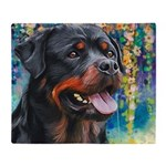Rottweiler Painting Throw Blanket