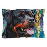 Rottweiler Painting Pillow Case