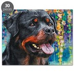 Rottweiler Painting Puzzle