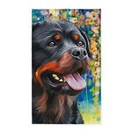 Rottweiler Painting Area Rug
