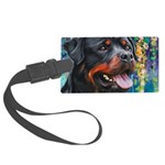 Rottweiler Painting Luggage Tag