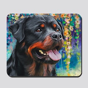 Rottweiler Painting Mousepad