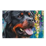 Rottweiler Painting Postcards (Package of 8)