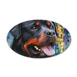 Rottweiler Painting Wall Decal