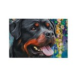 Rottweiler Painting Magnets