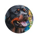 Rottweiler Painting Button