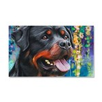 Rottweiler Painting Car Magnet 20 x 12