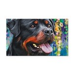 Rottweiler Painting Rectangle Car Magnet