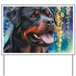Rottweiler Painting Yard Sign