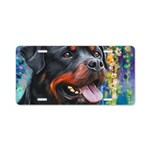 Rottweiler Painting Aluminum License Plate