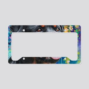 Rottweiler Painting License Plate Holder