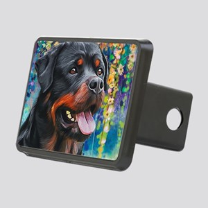 Rottweiler Painting Hitch Cover