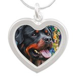 Rottweiler Painting Necklaces