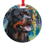 Rottweiler Painting Ornament