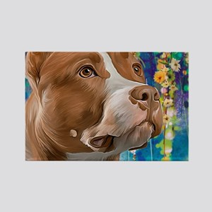 Pit Bull Painting Magnets