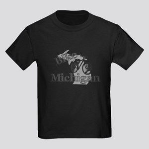 Bike Michigan Kids Dark T-Shirt