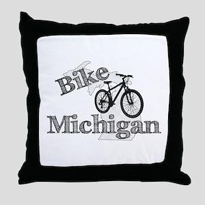 Bike Michigan Throw Pillow