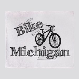Bike Michigan Throw Blanket
