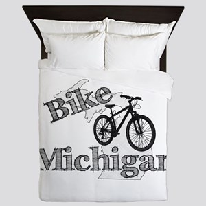 Bike Michigan Queen Duvet