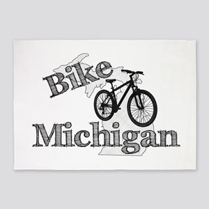 Bike Michigan 5'x7'Area Rug