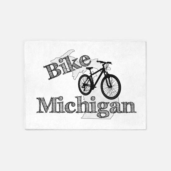 Bike Michigan 5'x7'Area Rug
