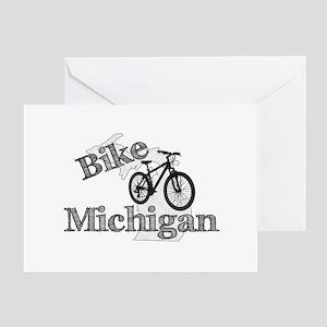 Bike Michigan Greeting Card