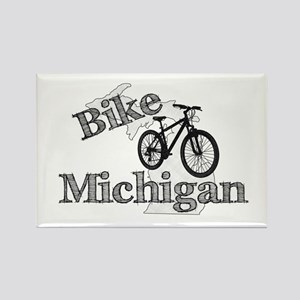 Bike Michigan Rectangle Magnet