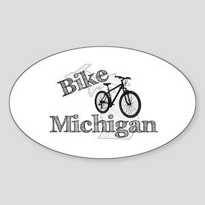 Bike Michigan Sticker (Oval)