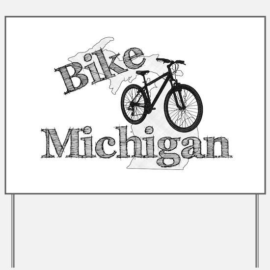 Bike Michigan Yard Sign