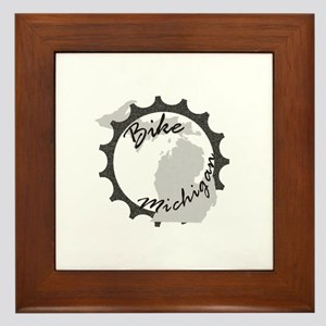 Bike Michigan Framed Tile