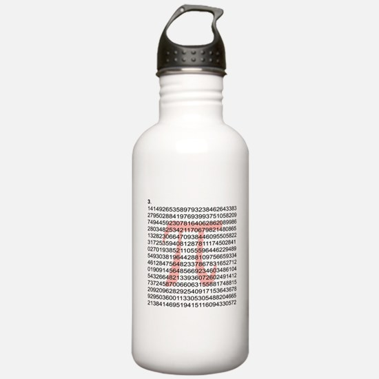 Pi with its number Water Bottle