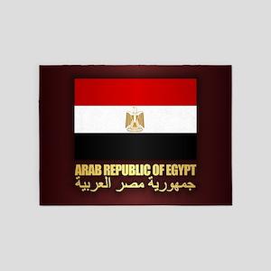 Egyptian Flag 5'x7'Area Rug