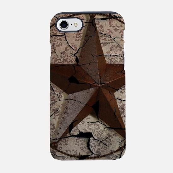 rustic texas lone star iPhone 8/7 Tough Case