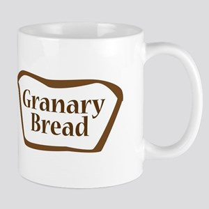 Granary Bread Outline shape Mugs