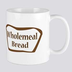 Wholemeal Bread Outline shape Mugs