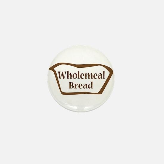 Wholemeal Bread Outline shape Mini Button