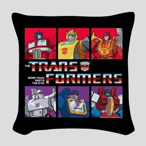 Transformers Autobots Deceptic Woven Throw Pillow