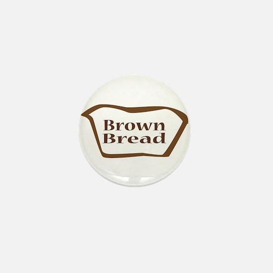 Brown Bread Outline shape Mini Button