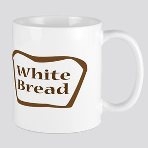 White Bread Outline Icon Mugs
