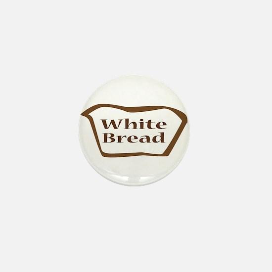 White Bread Outline Icon Mini Button