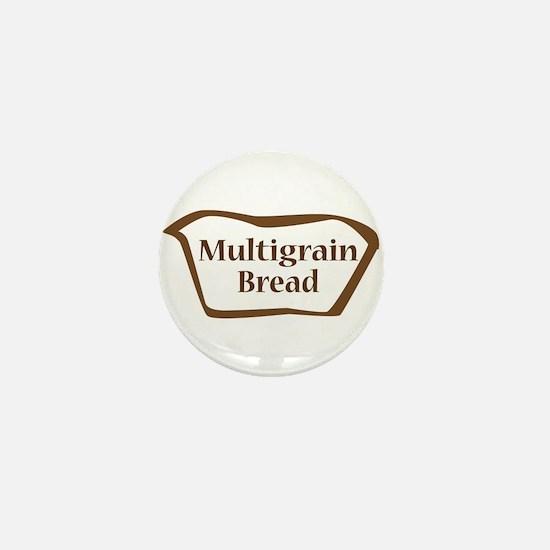 Multigrain Bread Outline Shape Mini Button