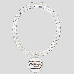 Multigrain Bread Outline Charm Bracelet, One Charm