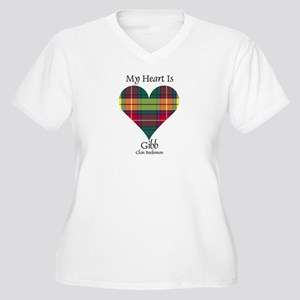 Heart-Gibb.Buchan Women's Plus Size V-Neck T-Shirt