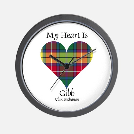 Heart-Gibb.Buchanan Wall Clock