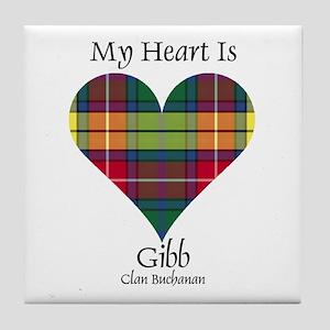 Heart-Gibb.Buchanan Tile Coaster