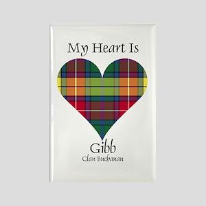 Heart-Gibb.Buchanan Rectangle Magnet