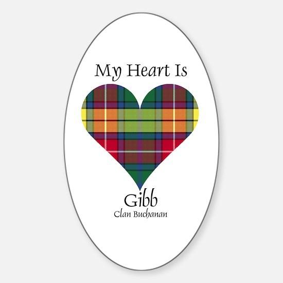 Heart-Gibb.Buchanan Sticker (Oval 10 pk)