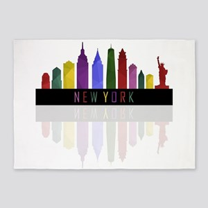 skyline new york 5'x7'Area Rug