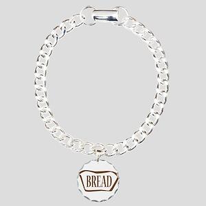 Bread Outline Icon Charm Bracelet, One Charm