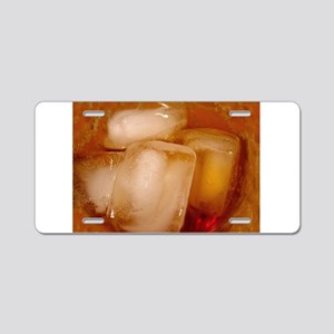 Whiskey - Kick It Back Aluminum License Plate